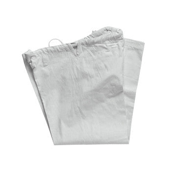 12oz HEAVY WEIGHT KARATE PANTS WHITE - SparringGearSet.com