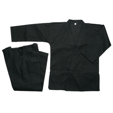 Heavy Weight Karate Uniform 12 oz - Black - SparringGearSet.com