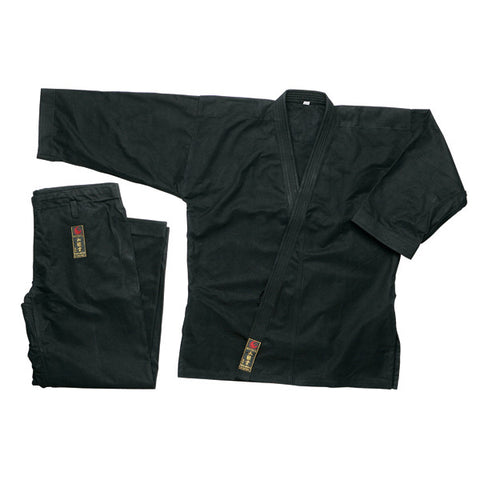 Wacoku 14 oz Super Heavy Weight Karate Gi - Black - SparringGearSet.com