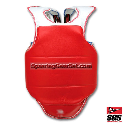 Deluxe Chest Protector with Shoulder - SparringGearSet.com - 1