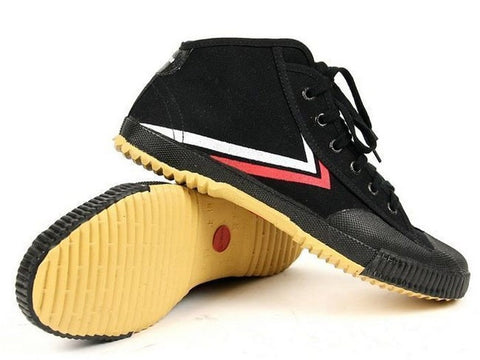 Feiyue Martial Arts Shoes, Black Hi-Top - SparringGearSet.com - 2
