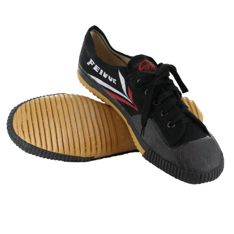 Feiyue Martial Arts Shoes, Black Low-Top - SparringGearSet.com - 2