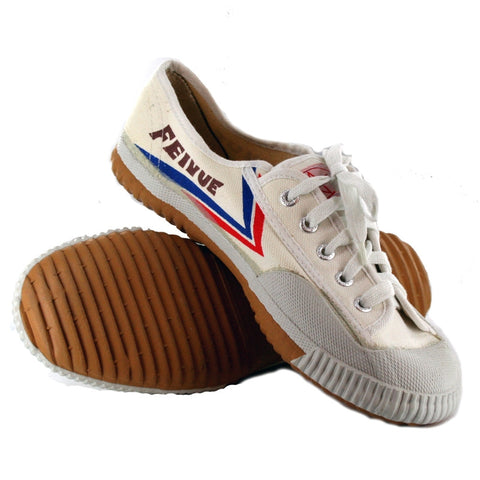 Feiyue Martial Arts Shoes, White Low-Top - SparringGearSet.com - 1