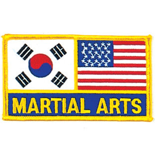 "2 FLAGS + ""MARTIAL ARTS"" PATCH, Small - SparringGearSet.com"