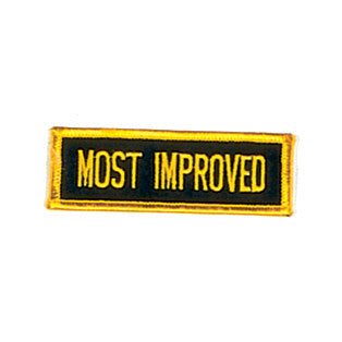"""Most Improved"" Patch, Black with Gold - SparringGearSet.com"