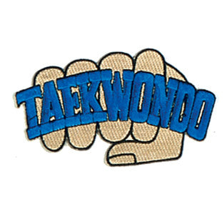 "FIST ""TAEKWONDO"" PATCH - SparringGearSet.com"