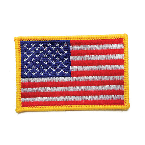 "USA FLAG PATCH ""Gold Border"" - SparringGearSet.com"