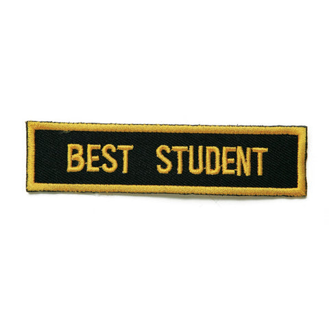 Best Student Patch, Black with Gold - SparringGearSet.com