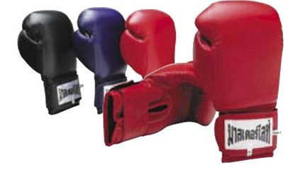 Leather Kick Boxing Velcro Glove - SparringGearSet.com - 2