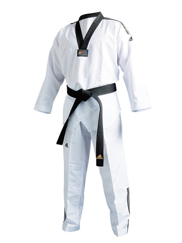 Adidas Fighter III TAEKWONDO Uniform W/ STRIPES - SparringGearSet.com
