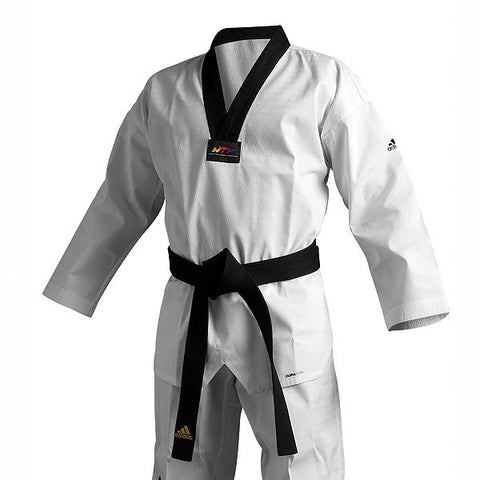 Adidas Adichamp 3 TKD Uniform, Black Vneck