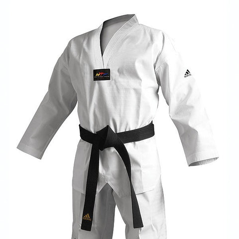 Adidas Adichamp 3 TKD Uniform, White Vneck
