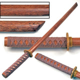 Hardwood Training Wooden Sword -Natural Bokken with Beige Cord Wrap
