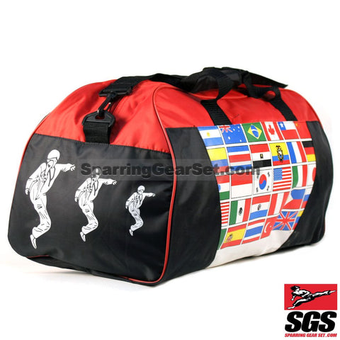 Pine Tree Sangmoosa Medium Gear Bag with Multi-National Flag Pattern - SparringGearSet.com - 1