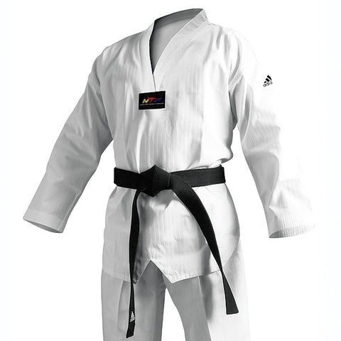 Adidas Champion II TKD Uniform, White Vneck