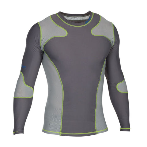 CENTURY LONG SLEEVE RASH GUARD GREY - SparringGearSet.com - 1