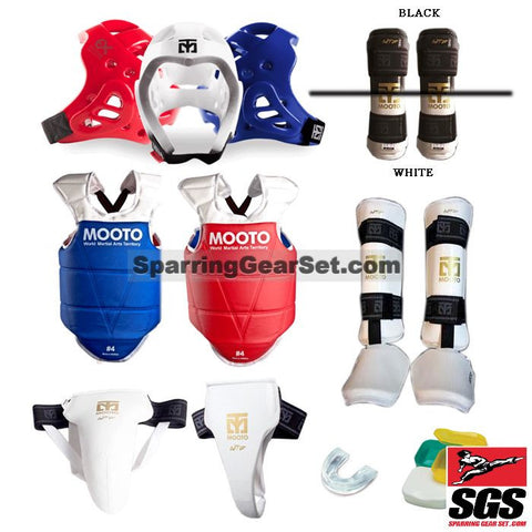 Mooto Extera Complete Taekwondo Sparring Gear Set w/ Shin Instep Guards - SparringGearSet.com - 1