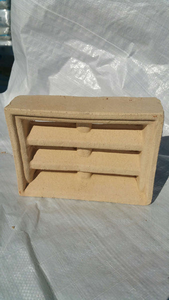 BRICK VENTS - CREAM DOUBLE BRICK LOUVRE