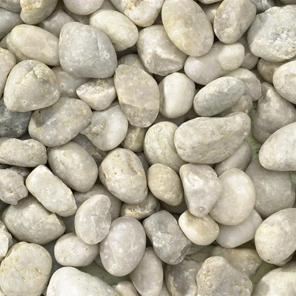 WESTERN WHITE PEBBLES (1/2 TON) 20mm