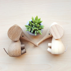 Scandinavian home decor accessories and wooden animals for kids rooms