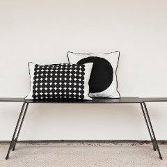 monochrome black and white cushion covers scandinavian design