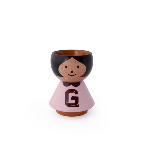 "Danish Handpainted Eggcup - A-Z Girl ""G"""