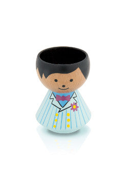 Danish handpainted eggcup by Lucie Kaas, perfect for morning breakfast or use as a salt and pepper pinch pot