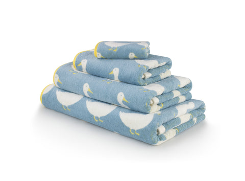 Bath towel set for your bathroom decor in Waddling Ducks by Anorak