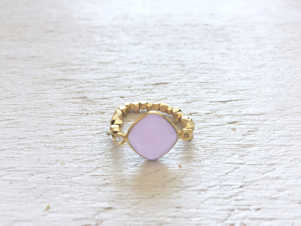 Pink Chalcedony Stretch Ring