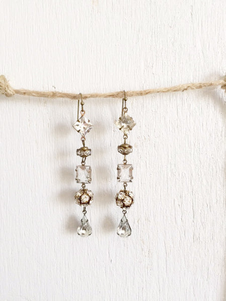 Rhinestone Bridal Earrings - Bency Co. Jewelry - 1