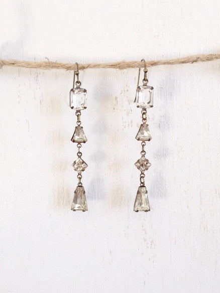 Rhinestone Dangle Earrings - Bency Co. Jewelry - 1