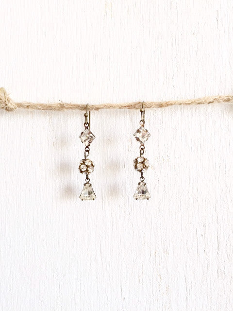Small Rhinestone Bridal Earrings - Bency Co. Jewelry - 1