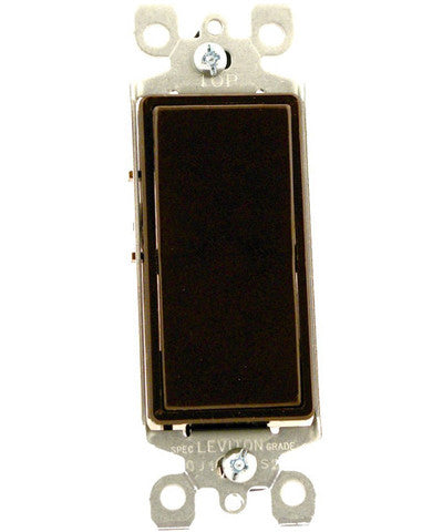 15-Amp 120-Volt, Decora Rocker 3-Way AC Quiet Switch, Residential Grade, Non-Grounding, Mahogany/Ivory/White, 5603 - Leviton - 1