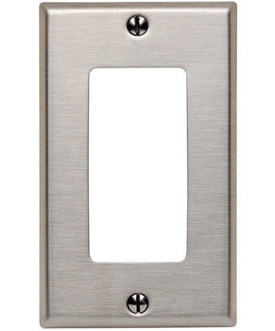 1-Gang Decora/GFCI Device Decora Wall Plate, Device Mount, Stainless Steel, 84401-40 - Leviton