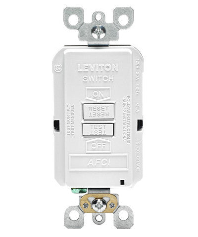 Blank Face AFCI Receptacle, AFRBF - Leviton - 1