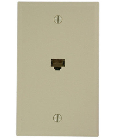 QuickPlate CAT 5e, 1 Gang Wall Plate, 5EA20-S1 - Leviton