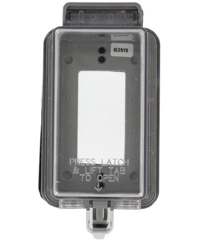 1-Gang Raintight While in Use Standard Cover, Extra Deep, for Decora or GFCI devices, Vertical Mount, 5977-DCL - Leviton