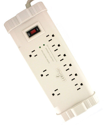 Office Grade Surge Strip, 9 Outlets, 15 Ft Cord, 5-15P plug, Beige, S2000-S15 - Leviton