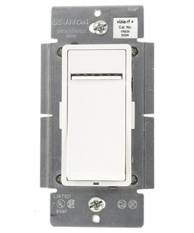 Vizia RF + 600W Electronic Low Voltage Scene Capable Dimmer, White/Ivory/Light Almond, VRE06-1LZ - Leviton