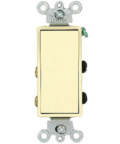 15 Amp 120/277 Volt, Decora Rocker 4-Way AC Quiet Switch, Residential Grade, Grounding, Various Colors, 5604-2 - Leviton - 1