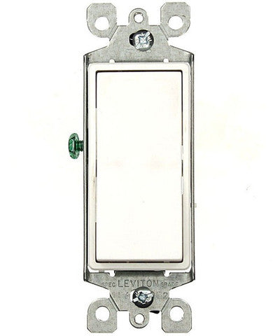 15-Amp 120/277-Volt, Decora Rocker 3-Way AC Quiet Switch, Residential Grade, Grounding, Various Colors, 5603-2 - Leviton - 1