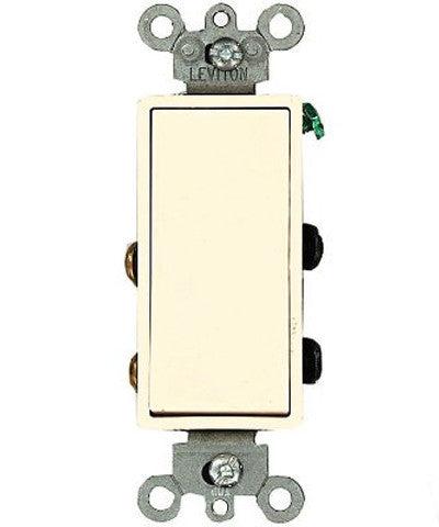 15 Amp 120/277 Volt, Decora Rocker 4-Way AC Quiet Switch, Residential Grade, Grounding, Various Colors, 5604-2 - Leviton - 6