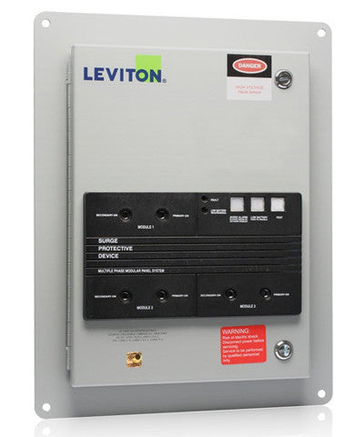277/480 VAC 3-Phase Wye, Surge Panel with Replaceable Surge Modules, NEMA 12 Enclosure, 57277-M3 - Leviton
