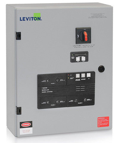 120/208VAC 3-Phase WYE, 7-Mode, Type 2 Panel Mounted Surge Protective Device with Integral Disconnect Switch, Includes Surge Counter, 52120-7CS - Leviton