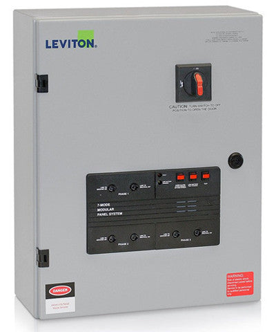 277/480VAC 3-Phase WYE, 7-Mode, Type 2 Panel Mounted Surge Protective Device with Integral Disconnect Switch, 5277-7MS - Leviton
