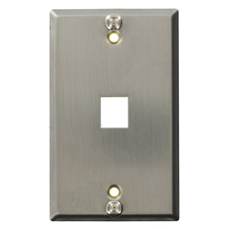 Stainless-Steel QuickPort Telephone Wallplate, 4108W-SP