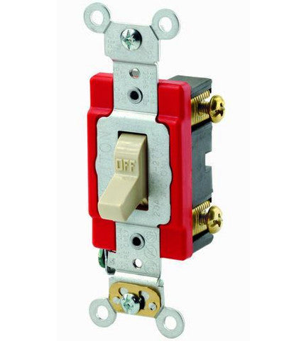 20 Amp, Toggle Single-Pole AC Quiet Switch, 120/277 Volt, Extra ...