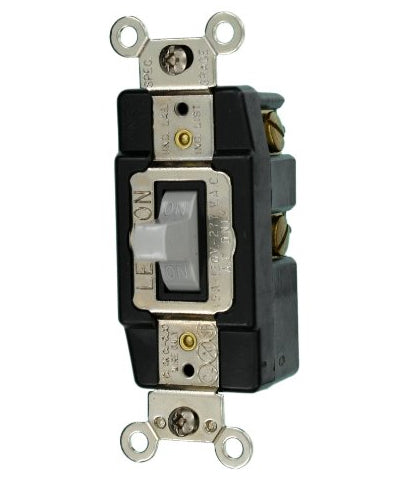 15 Amp 120 Volt Single Pole Toggle Ac Quiet Switch 1256