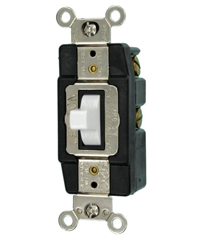15-Amp 120-Volt Single-Pole Toggle AC Quiet Switch, Industrial Grade, 1256