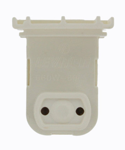 Standard Fluorescent Lampholder, Medium Base, Bi-Pin, White, 13571-NW - Leviton